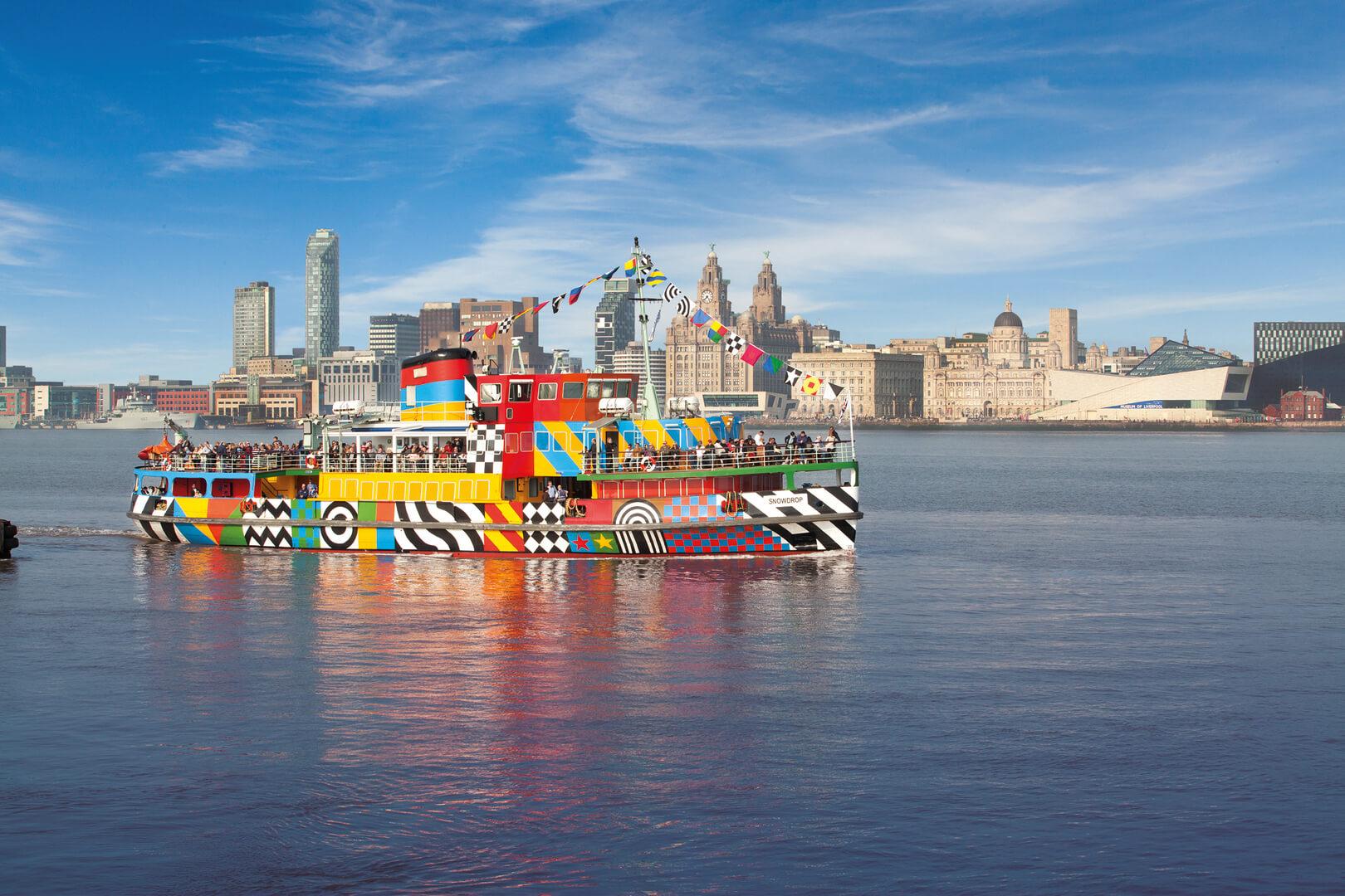 Dazzle Ferry on the River Mersey