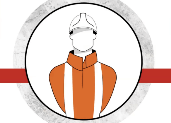 Illustration of rail worker